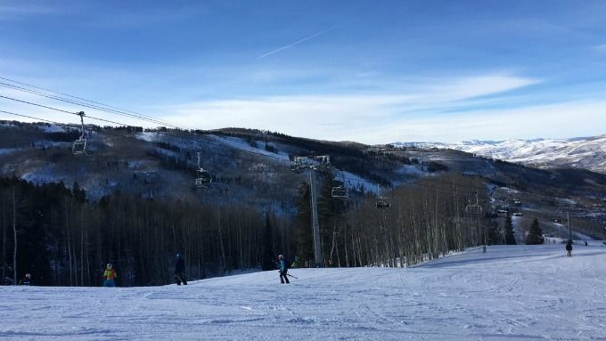 The slopes at Beaver Creek Ski Resort- great for snowboarders and skiers.