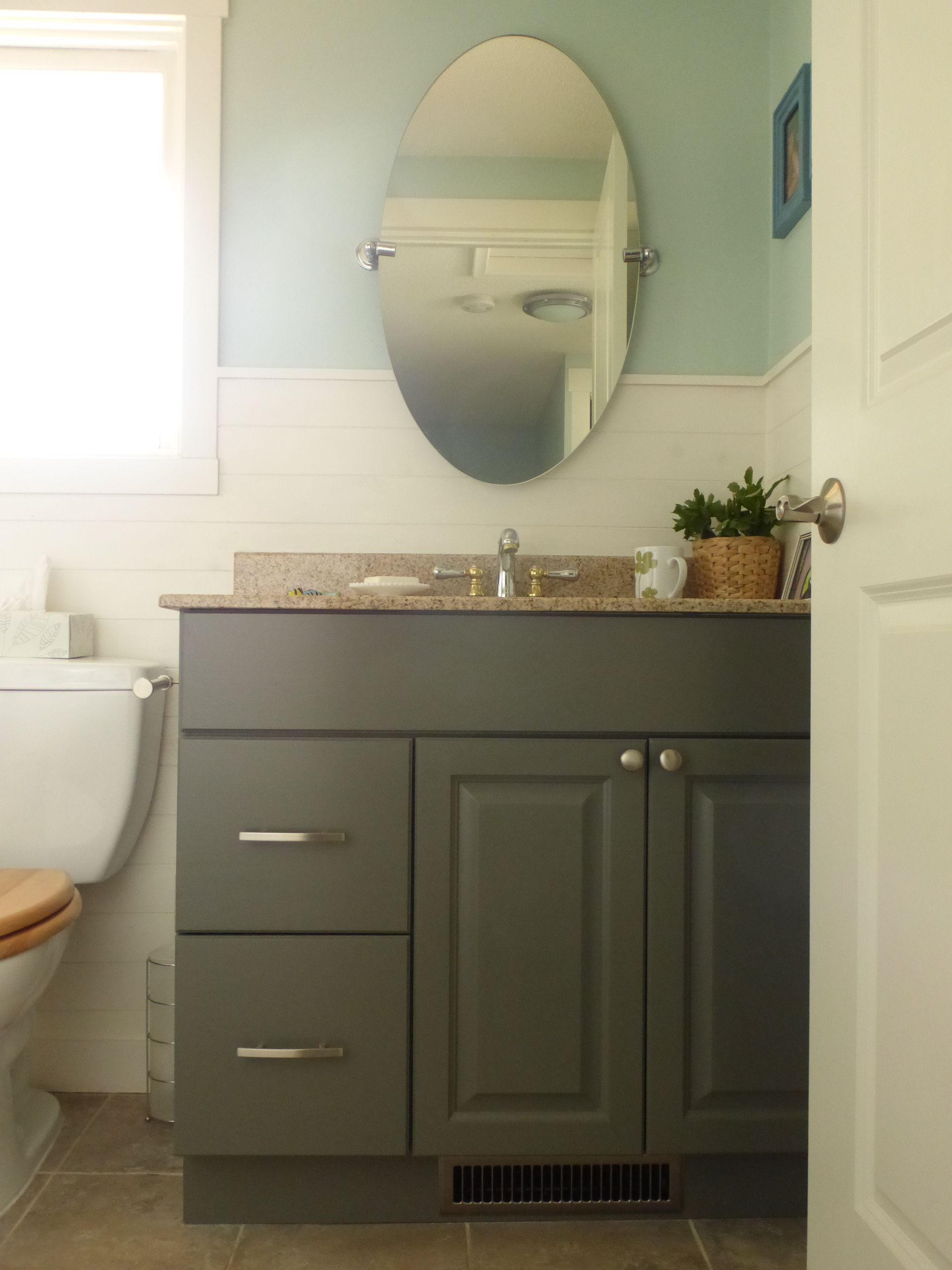 Best Bathroom Cabinet Painted In Bm Amherst Grey Painting 640 x 480
