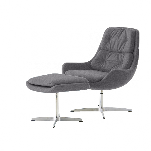 The Super Easy Chair And Footstool From Steijer Is A Comfortable, Stylish  And Affordable Lounge Chair Set. The Buttoned, Padded Cushions Add A Touch  Of ...