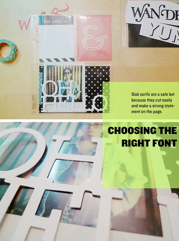 DIY //  How to Customize Your Die Cut Typography // Project Life Inspiration