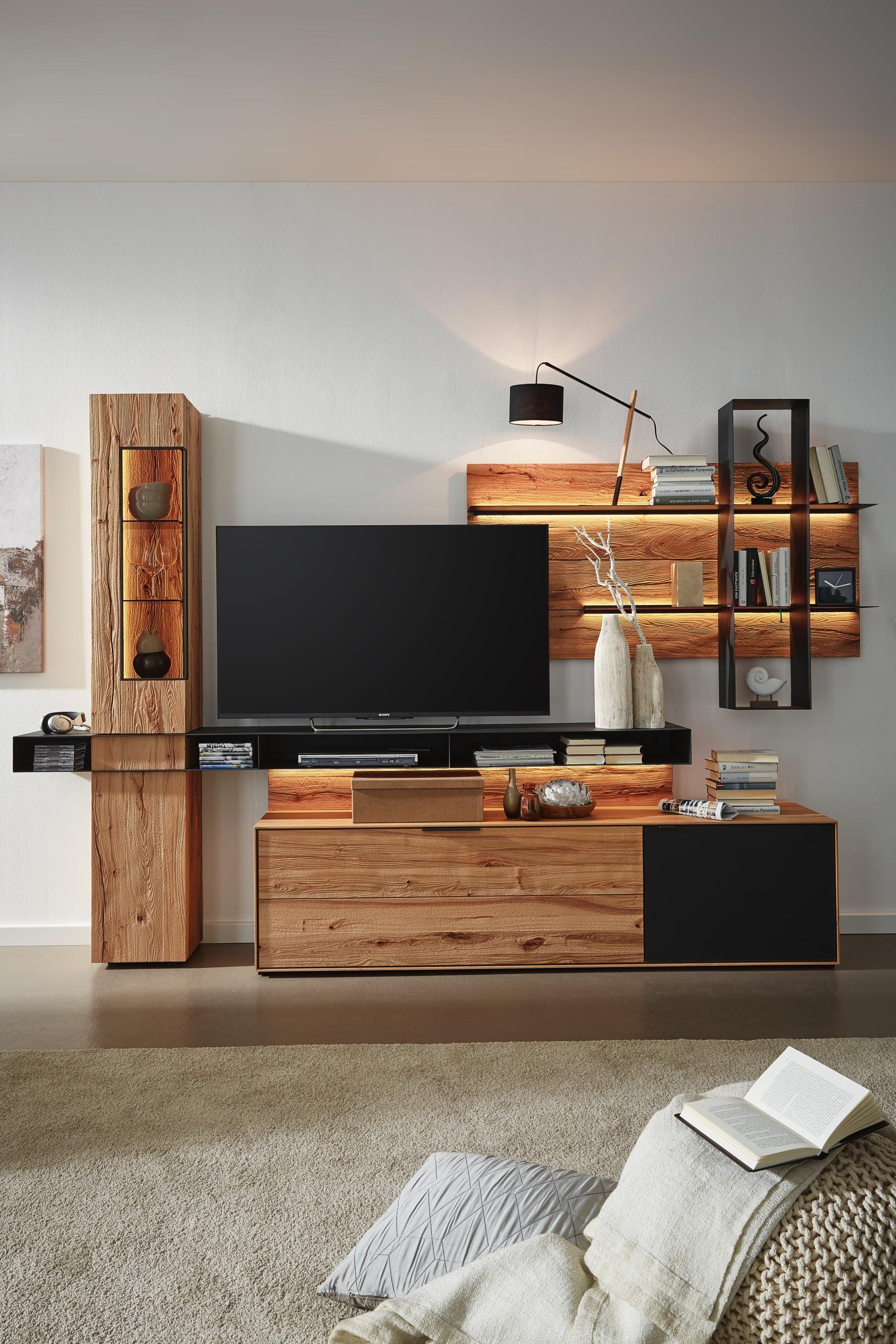 Wohnwand In Valnatura Markenqualitat Fur Ihr Perfektes Wohnambiente Wohnen Wohnzimmerschranke Haus Innenarchitektur