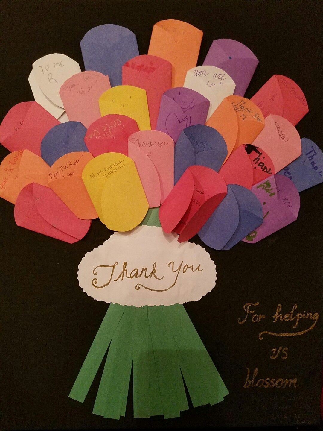 whole class art projects for thankyou - Google Search #custodianappreciationgifts