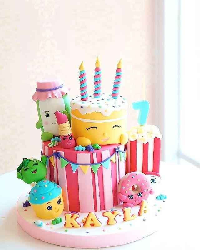 Shopkins Birthday Cake | Cake stuff in 2019 | Shopkins birthday cake ...
