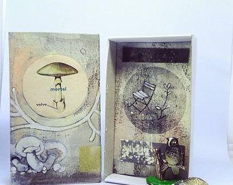 Art box:assemblage petit diorama réalisé dans une boîte   Etsy