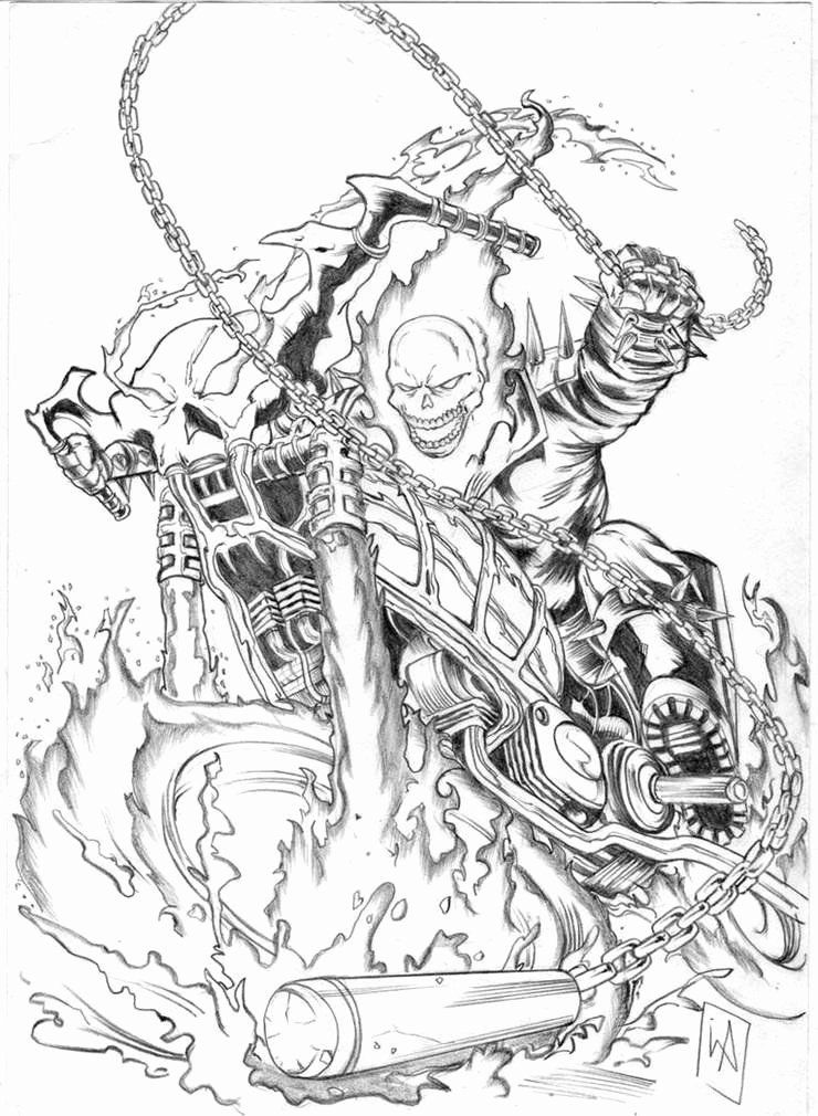 On Line Coloring For Adults New Free Ghost Rider Coloring Pages Free Printable Coloring In 2020 Ghost Rider Tattoo Ghost Rider Marvel Ghost Rider