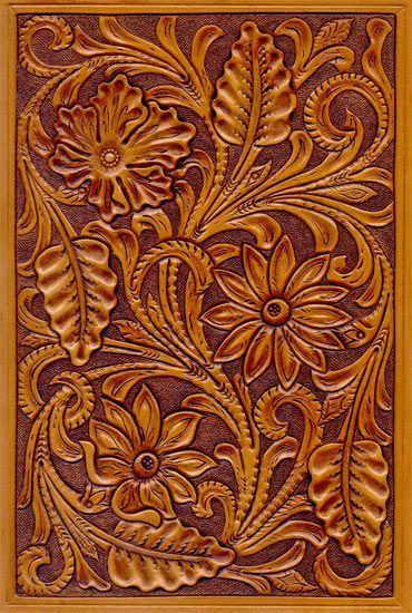 Sheridan leather carving patterns crafts