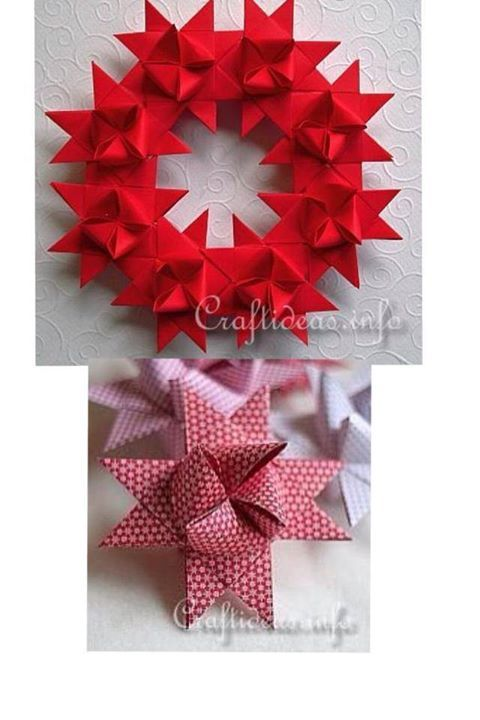 How to make beautiful german star wreath paper craft step by step how to make beautiful german star wreath paper craft step by step diy tutorial instructions solutioingenieria Gallery