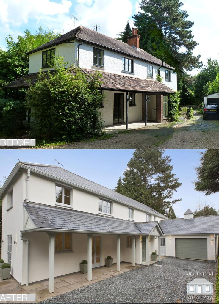 1960 S Before And After Remodelling Project In Guildford Surrey By Back To Front Exterior: Image Result For Coastal Bungalow Facelift Uk