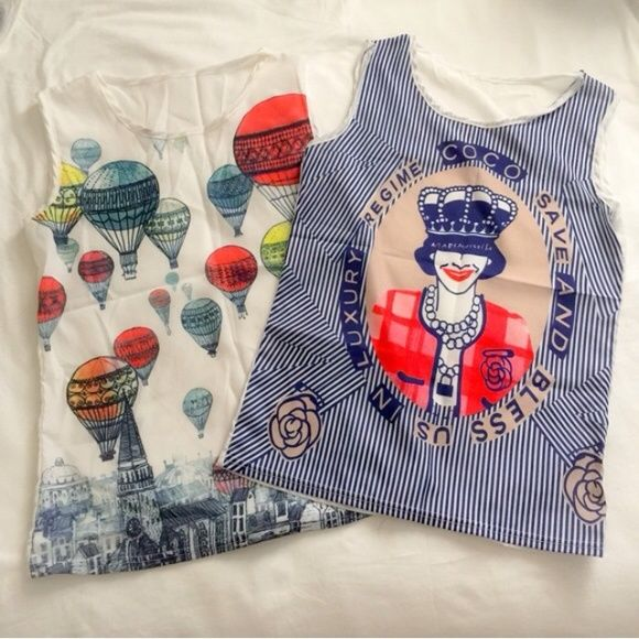 Cute fashion tanks bundle Sheer material light and stylish Tops