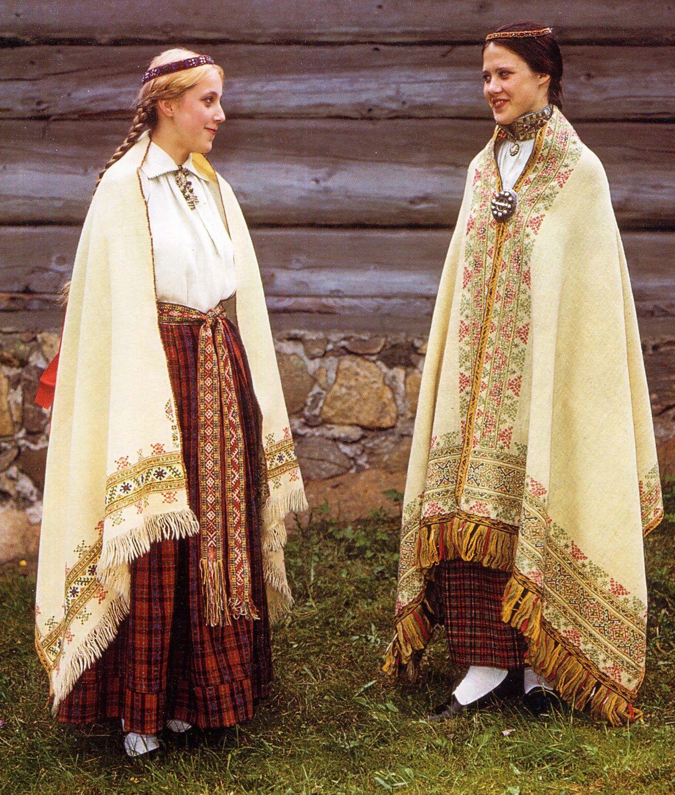 Латгальский народный костюм картинки