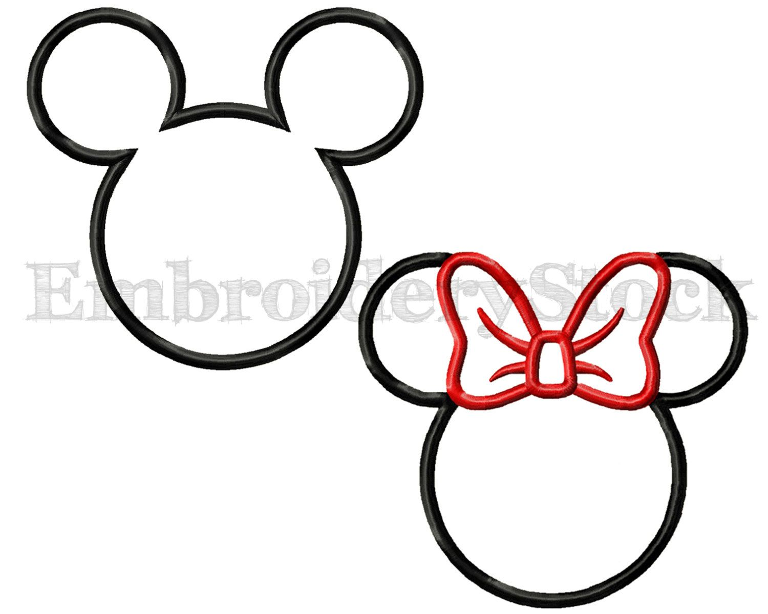 Motif Appliqué Thermocollant Couple Mickey Et Minnie