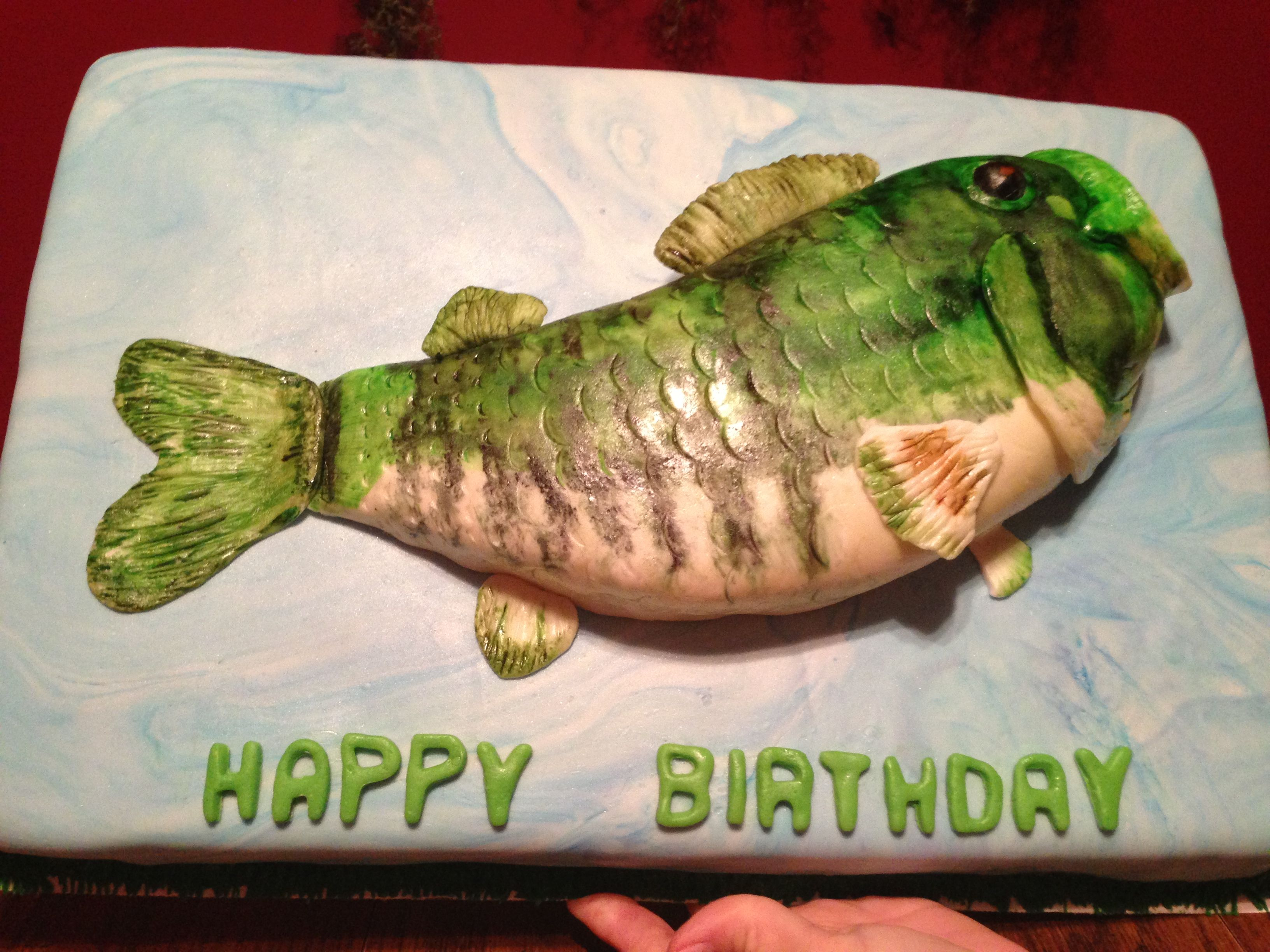 Pin By Shelia Fryman On Cakes We Have Made Happy Birthday Fishing Fishing Birthday Fish Cake