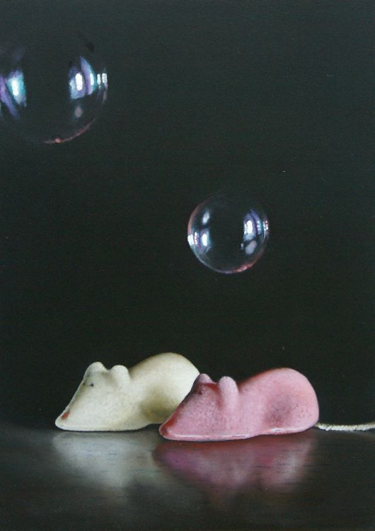 SUGAR MICE WITH BUBBLES BY LUCY CRICK