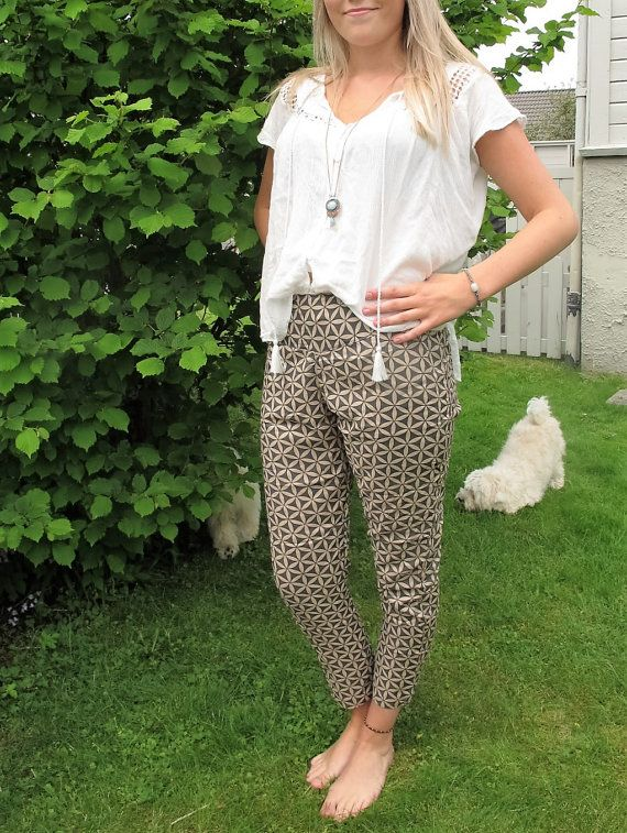 Flower of Life Slim Fit Pants. by EgzotikGems on Etsy