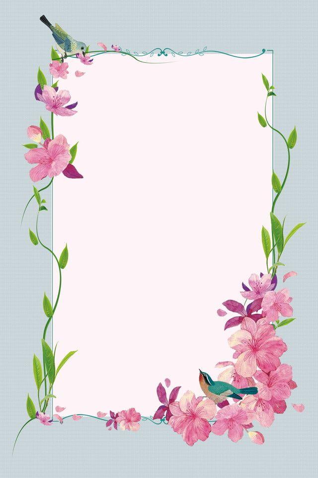 Simple Plant Flower Vine Little Bird