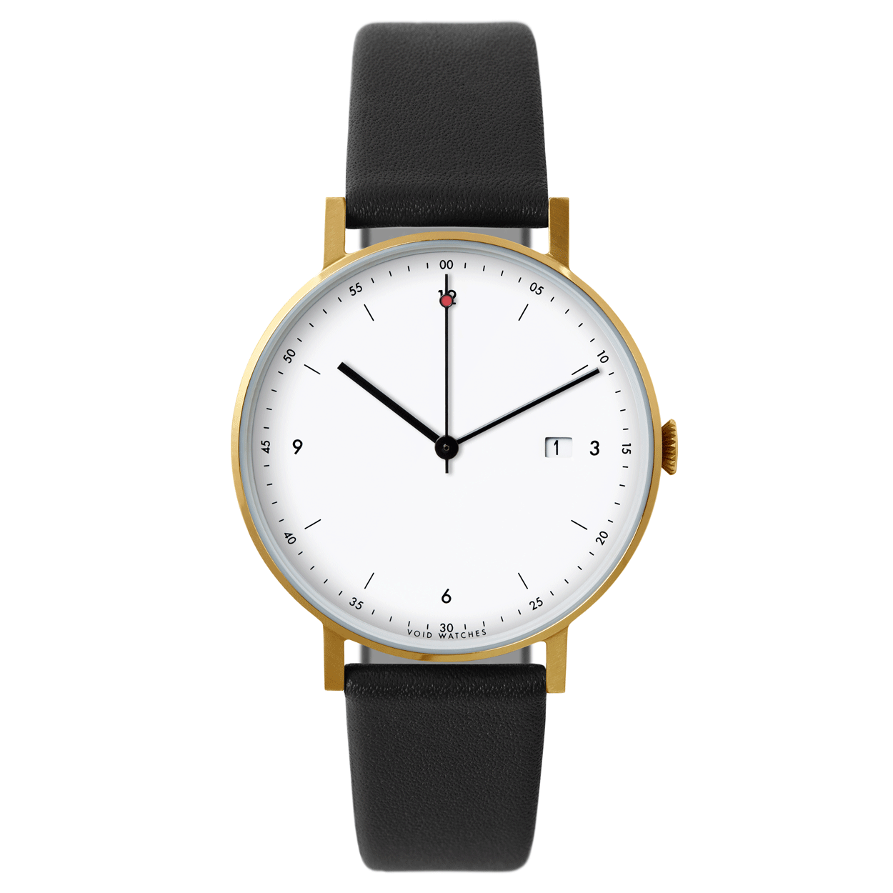 Void's thinnest timepiece to date is now available in a classic gold/black colour combination.     #blackandgold #luxurywatches #Swefishdesign