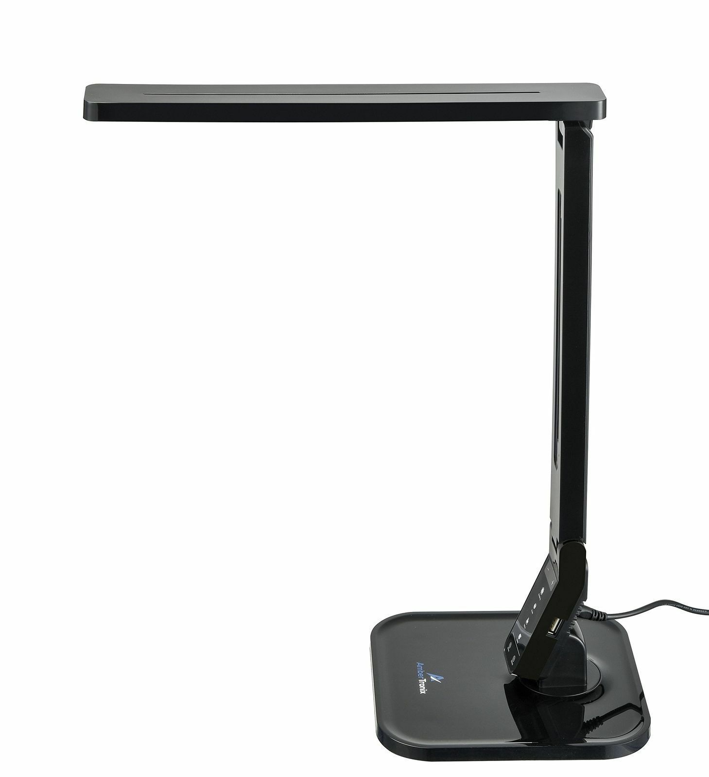 Black Ambertronix Led Desk Lamp Usb Phone Charge 4 Color Modes 5 Brightness Led Desk Lamp Black Desk Lamps Black Lamps