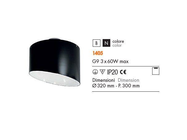 GRETA Lampada da soffitto Collezione Greta by ROSSINI