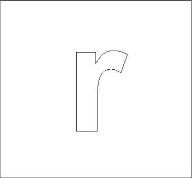 Lowercase R Stencil  Alphabet Help    Activities