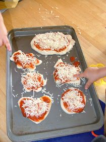 Little Hands, Big Work: Pizza Shapes