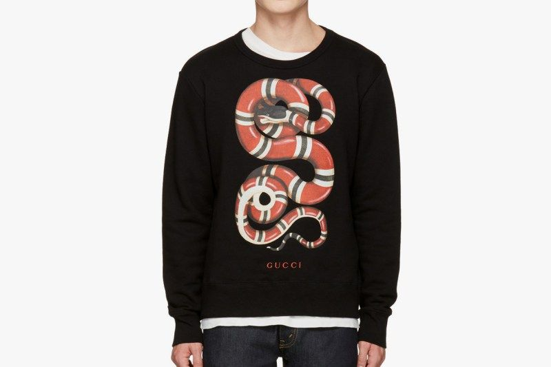 2c83aaaec41 Gucci s Black Snake Pullover Will Add Some Flair to Your Sweater Collection