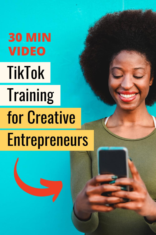 Tiktok For Business Video Training Mkw Creative Co Business Video Training Video Social Media Advice