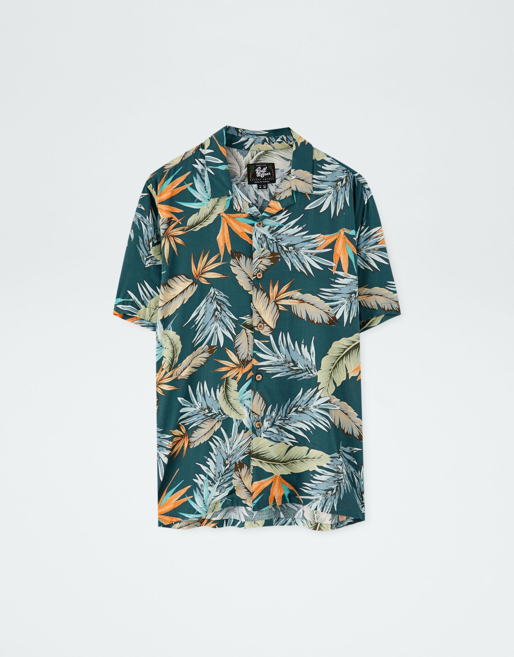 Camisa viscosa flores summer - PULL BEAR  58669d797e0c3