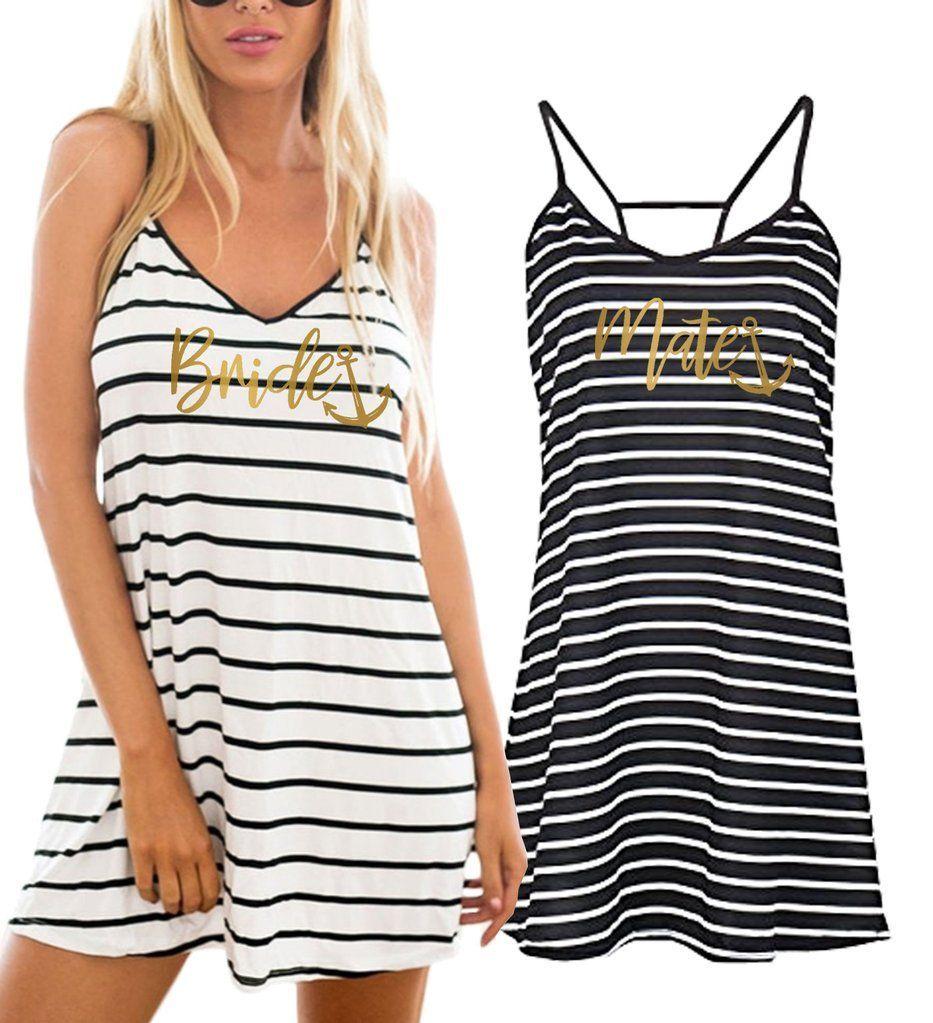 26e9098b97c94 gold bride anchor cover up beach dress, gold mate anchor cover up beach  dress, cover up, coverup, swimsuit, anchor, nautical, cruise, boat,  bachelorette ...