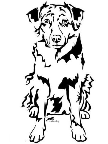 Australian Shepherd Wandtattoo Dog Tattoos Animal Silhouette