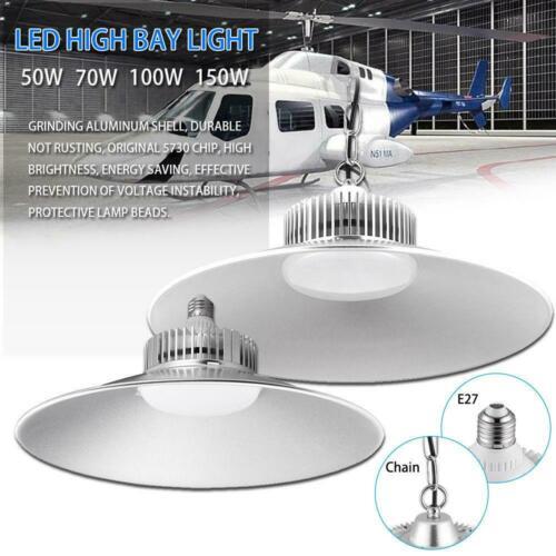 LED High//Low Bay Light 150W 100W 70W 50W Gym Factory Warehouse Shop Lighting