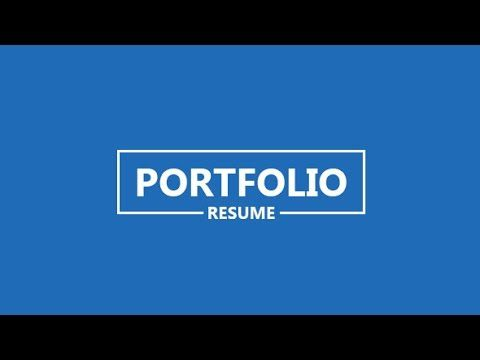 Portfolio Resume After Effects Project Videohive