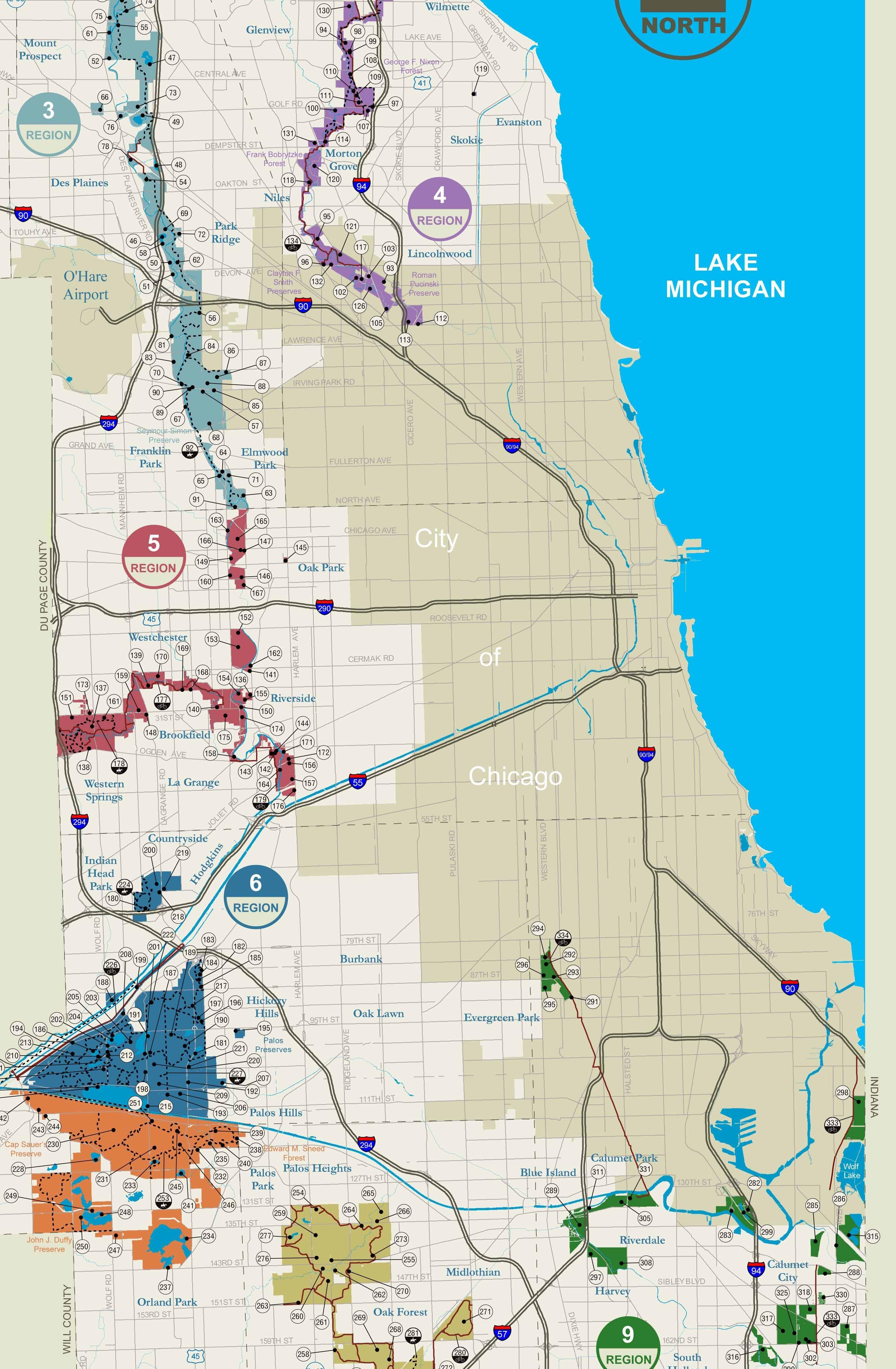 Chicago Forest Preserves Maps Graphs  Charts Pinterest - Chicago kayak map