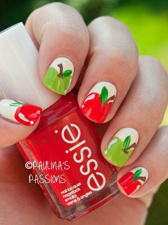 Back To School Nail Art Idea Nails Pinterest School Nails