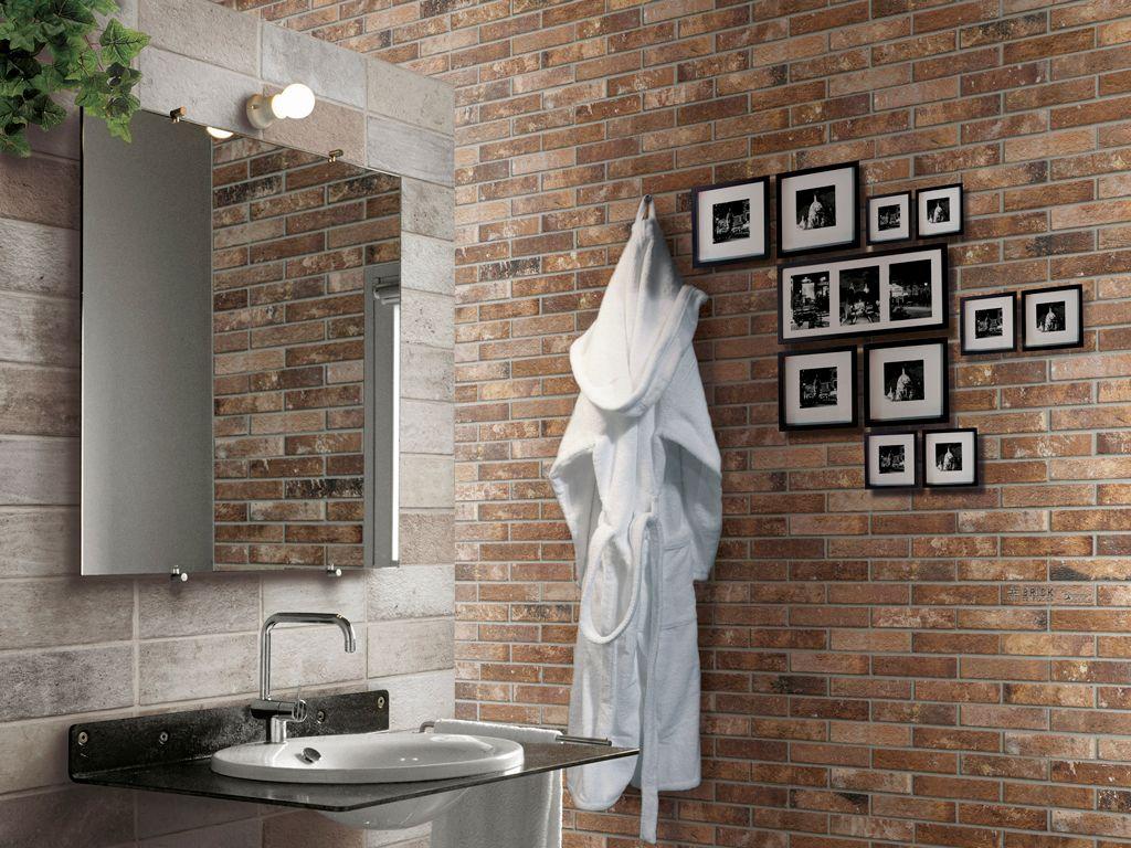London Ceramica Rondine 100 Bathroom Brick Effect