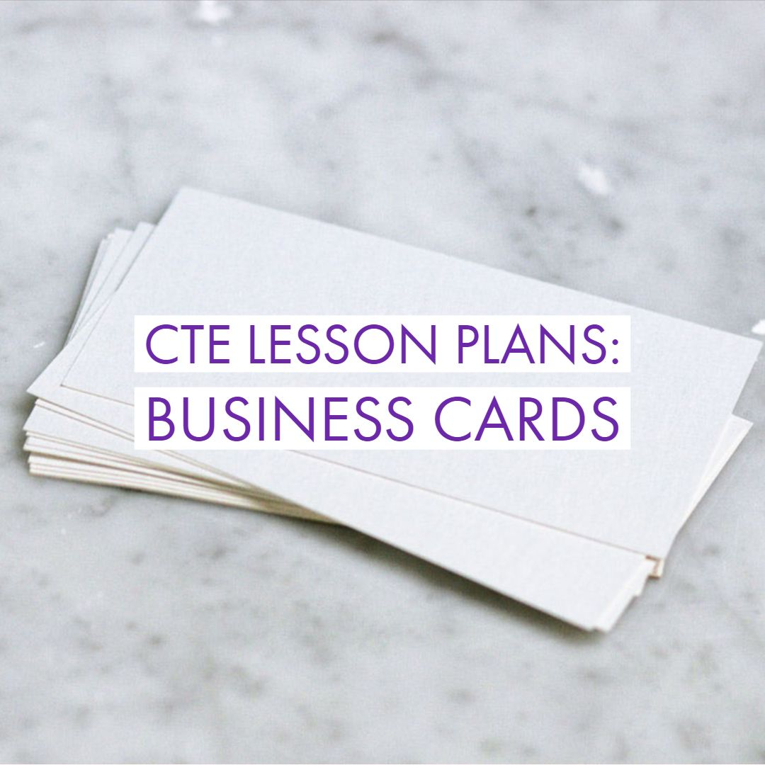 Cte Lesson Plans