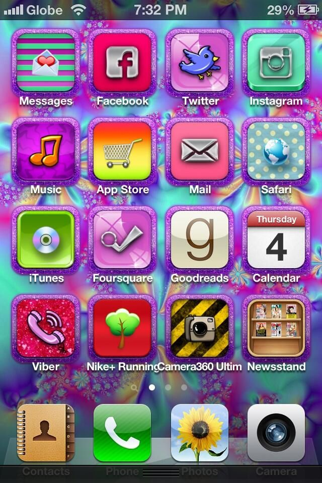 Phone Screen Diy App Icons And Wallpaper Technology