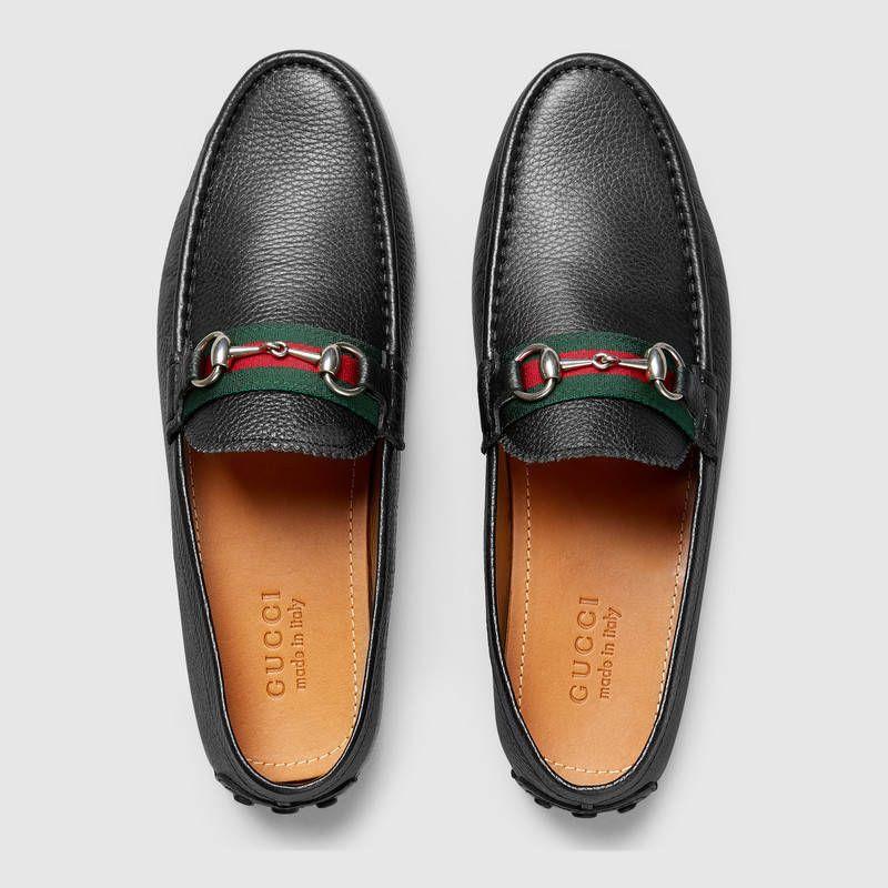 f98ff4de Men's Horsebit leather driver | Menswear | Gucci loafers ...