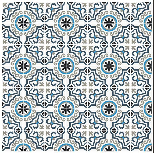 Carreau Ciment Wave Carreau De Ciment Bleu Mosaique Carreau