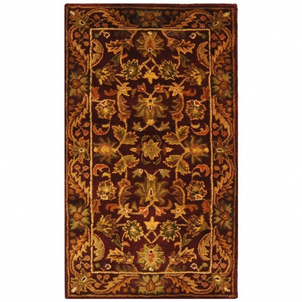 Safavieh Antiquity Wine Gold 2 Ft X 3 Ft Area Rug At52b 2 With