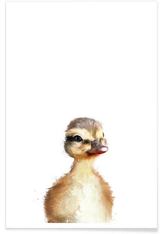 Little Duck als Premium Poster von Amy Hamilton   JUNIQE #wasserfarbenkunst