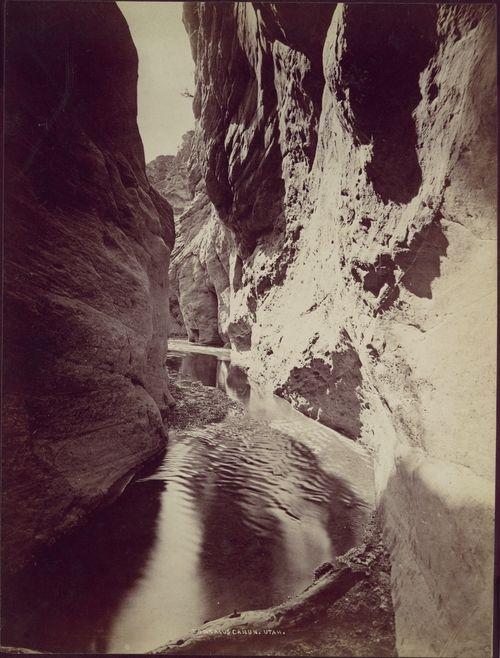 William Henry Jackson; Tantalus Cañon, Utah, 1870s