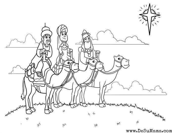 Three Kings Printable - Los Tres Reyes Mago Coloring Page | Epiphany ...