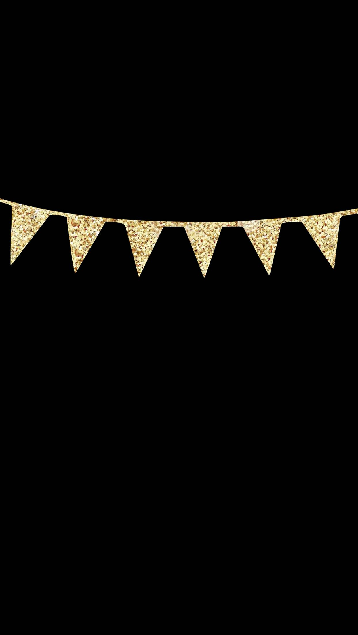 IPhone 6 Plus Lock Screen Wallpaper Black With Gold Glitter