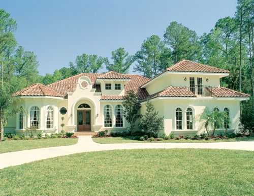 Rembrandt 4127 5 Bedrooms And 4 5 Baths The House Designers Mediterranean House Plans Mediterranean Style House Plans Florida House Plans