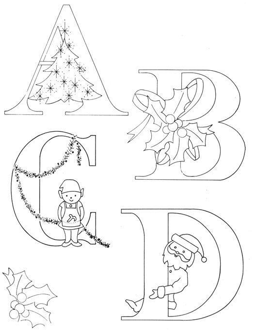 Pin By Anna Flynn On Craft Ideas Christmas Alphabet Christmas Lettering Christmas Embroidery