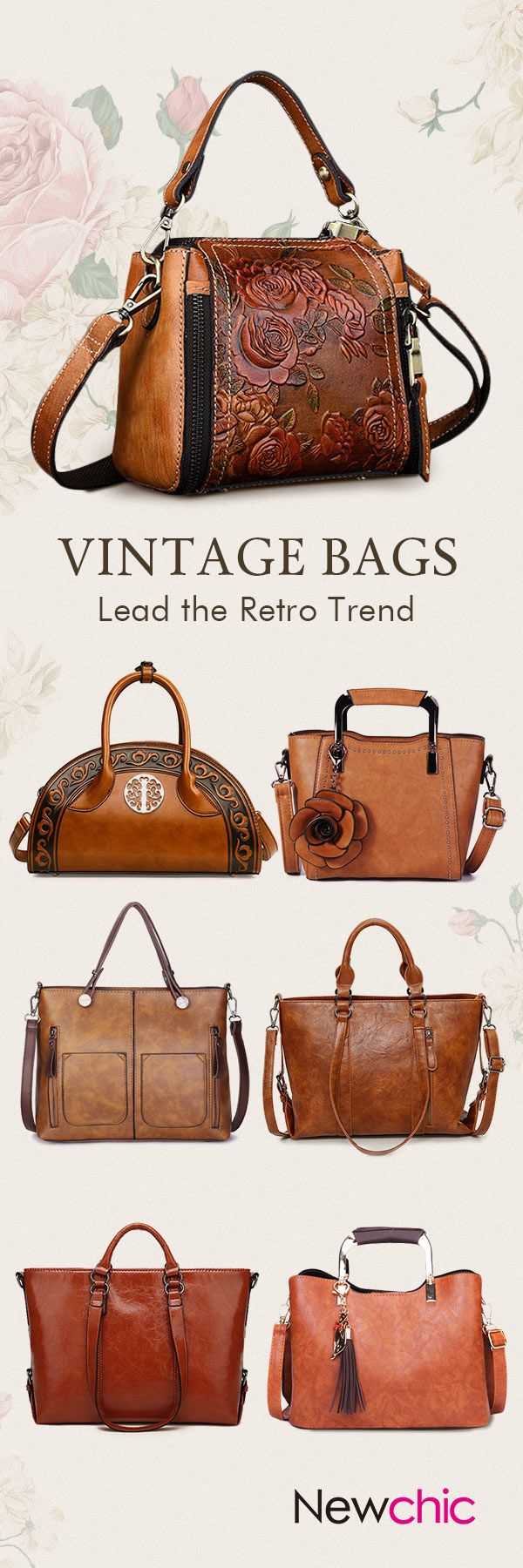 Vintage Leather Women Bags Used For Dating Office Ping Travelling