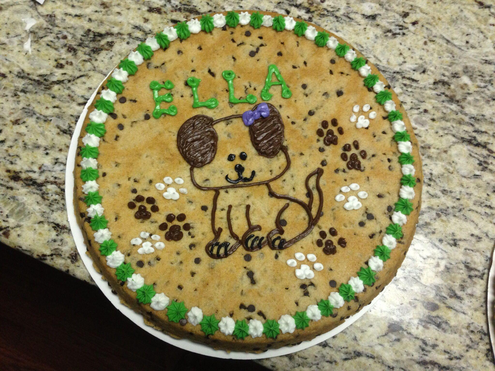 Puppy dog Cookie Cake