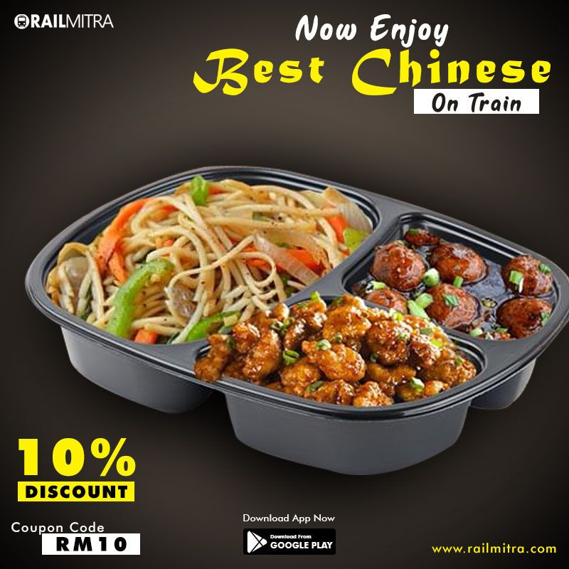 Tastytuesday Enjoy Chinese Combos With Special 10 Off On All Pre Paid Order Visit Railmitra Com Or Call Us At 8102 888 In 2020 Food Order Food Meal Train Recipes