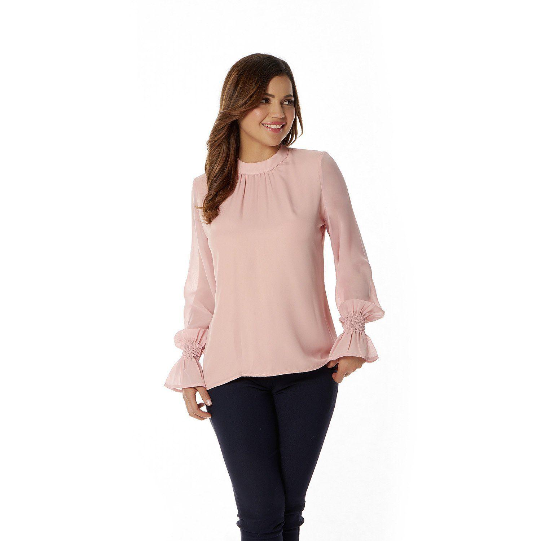 010-821 Blusa Dama Terra - Rosa | Products | Pinterest | Blusas dama ...