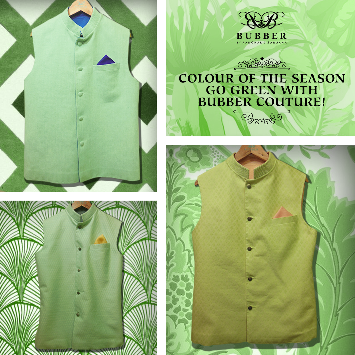 Looking for that perfect ensemble for a summer wedding?   Go green with Bubber Couture's mint & lime subtle detailed bandhis!  Can be customised in any size!  Click here to book an appointment: bit.ly/Bubber_Couture Contact: 9819980846/9820709875 (appointment basis only) Email: info@bubbercouture.com  #mint #lime #green‬ ‪#summer #summerwedding‬ ‪#pastels‬ ‪#indian #indiangroom #groom #menswear #bundi #bandi #bandhi ‪#‎bubbercouture